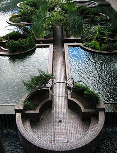8 Best Modern Ideas-Day Moats That Float Our Boats Sunken water garden in the middle of the Barbican, opened Landscape Design PrinciplesEight rules for creating a residential garden that is neither fussy nor constraining. 4 Garden Design Calimesa, CA Design Jardin, Urban Landscape, Landscape Designs, Hawaii Landscape, Landscape Curbing, Landscape Model, Landscape Fabric, Desert Landscape, Landscape Photos