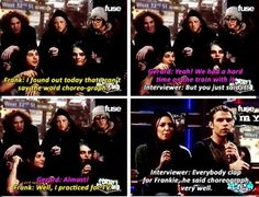 My Chemical Romance | funny moments... I have a hard time saying it also.