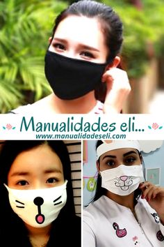 Easy Face Masks, Diy Face Mask, Sewing Crafts, Sewing Projects, Tapas, Diy Crafts Hacks, Making Faces, Homemade Face Masks, Tips & Tricks