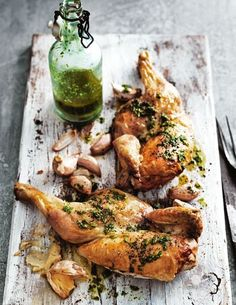 Roasted Garlic And Rocket Chicken