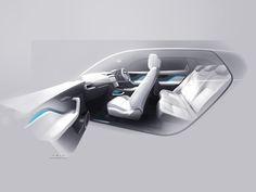 Jaguar F-PACE Interior sketch