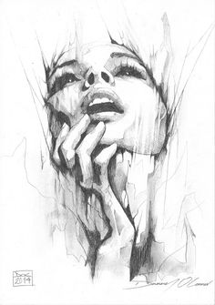 """""""Portrait Pencil Study"""" by ART-BY-DOC on deviantart.  That is a hard perspective to draw of the face!"""