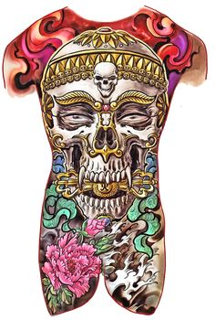 Find gifts for him at The Skull Man Zazzle. This and many other skull designs on t-shirts, wallets, laptop sleeves, phone skins etc.