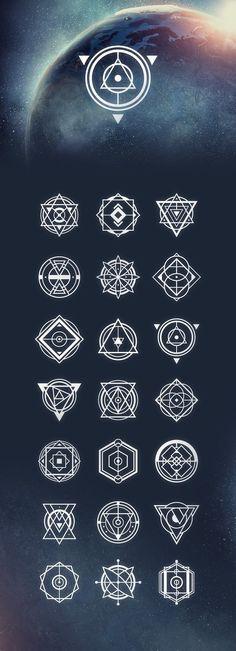 21 Sacred Geometry Vectors by Tugcu Design Co. on @creativemarket