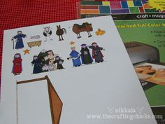 cute nativity printed on magnetic paper for the kids - this clip art was SO Cute!!