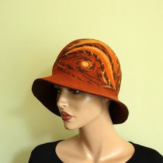 Hey, I found this really awesome Etsy listing at https://www.etsy.com/listing/215962527/rusty-mahogany-brown-hat-felted-hat-felt