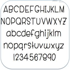 Free font! Like Smiley Monsters but with uppercase and numbers