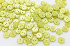 20 Small Yellow Button Baby Children by boysenberryaccessory