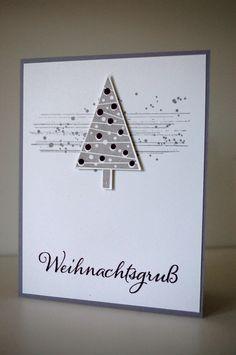 Stampin up Weihnachtskarte Gorgeous Grunge & Festival of Trees / Tree Punch Christbaumfest                                                                                                                                                                                 Mehr