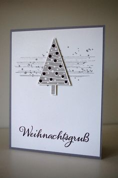 Stampin up Weihnachtskarte Gorgeous Grunge Christbaumfest