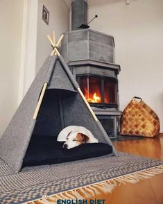 32 Rustic Indoor Dog Houses Design Ideas For Small Dogs To Have - Most people think of outdoor dog houses when they thing of a dog house. However, there are also indoor dog houses. Which are perfect if you want to ke. Animal Room, Animal House, Bunny Beds, Kitten Beds, Costume Chien, Canis, Dog Bedroom, Bedroom Ideas, Puppy Room