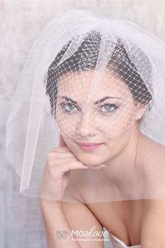 Katy | two-layer veil with the French veil - MoaLove Accessories