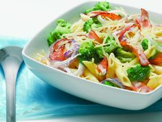 Penne with broccoli Summer Dishes, Penne, Cabbage, Salads, Yummy Food, Favorite Recipes, Vegetables, Google, Summer Entrees