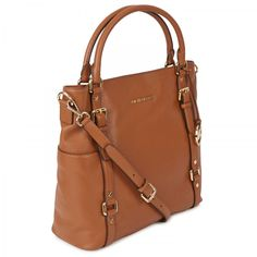 Michael Kors Bedford Grained Leather Tote in Brown (tan) | Lyst