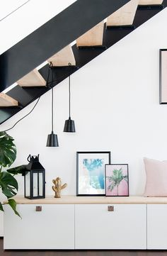 Sagt nicht, ich habe Do not say I have not shown you yet. Our hallway, which I changed before . Flur Design, My New Room, Fancy, Ceiling Lights, Lighting, Home Decor, Blog, Ikea Hacks, Sideboard