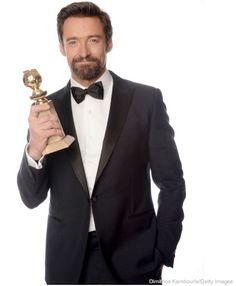 "Congratulations to Hugh Jackman for winning the Golden Globe for ""Best Performance by an Actor in a Motion Picture - Comedy Or Musical Award"" for Les Misérables!"