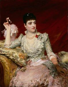 """Adelina Patti by James Sant, ca. 1886, National Portrait Gallery, London. """"The Italian opera singer Adelina Patti, the last of the line of great coloratura sopranos, made her London debut on 14 May..."""""""