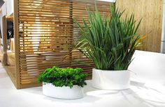 Love the planters - could find big containers in that similar shape and spray paint outside for cheap.