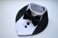 Baby bib boy Baptism bibshirt bow tie bib baby bandana bib