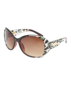 This Brown & White Leopard Oversize Sunglasses is perfect! #zulilyfinds