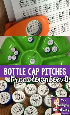 Create a very inexpensive workstation to practice pitch names on the treble clef staff with a dip tray and this free dow Music Education Activities, Physical Education, Early Education, Health Education, Elementary Music Lessons, Elementary Schools, Middle School Music, Music Lesson Plans, Piano Teaching