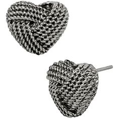 Betsey Johnson Anchors Away Heart Rope Stud Earrings ($19) ❤ liked on Polyvore featuring jewelry, earrings, accessories, jewelry - earrings, silver, stud earrings, anchor jewelry, anchor post earrings, knot stud earrings and heart jewelry