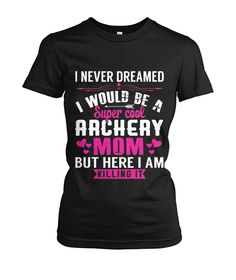 Ladies T-Shirt Eat Sleep Archery Repeat Actress Gift Present Birthday Hobby