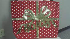Christmas Tote Mudpie Christmas, Mud Pie, Four Square, Gift Wrapping, Gifts, Butcher Paper, Presents, Favors, Gift Packaging