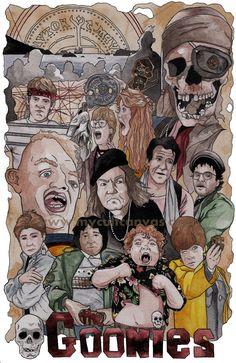 Phil Gibson. Original The Goonies Art Poster Print