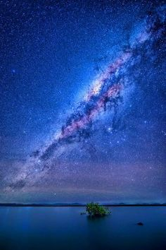 Milky Way Galaxy looming over Wilson Beach in Australia