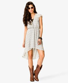 Ditsy Heart High-Low Dress | FOREVER 21 - 2022742740