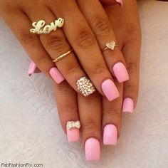 Pink nails inspiration | See more nail designs at http://www.nailsss.com/nail-styles-2014/
