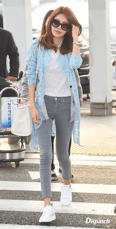 Lovely Sooyoung airport fashion