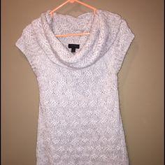 Cowl neck tunic. Grey Worthington grey cowl neck sweater tunic. Size XL Worthington Sweaters Cowl & Turtlenecks