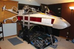 Star Wars X-Wing bed