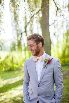 Mrs Bow Tie Groom Grey Suit Creative Colourful Mexican Outdoor Wedding http://www.binkynixon.com/