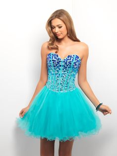 2013 Style A-line Sweetheart Beading Sleeveless Short / Mini Tulle Cocktail Dresses / Homecoming Dresses - Dolcedress.com