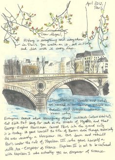 A year's worth of art? What a great idea! -->Fun mail from Paris 12 letters by JaniceArtShip on Etsy, $50.00