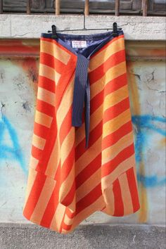 Jaggy Nettle hand printed Harris Tweed skirt - made in Scotland.