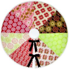 Re-imagine & Renovate Holiday Style: Color Wheel Tree Skirt | Sew4Home