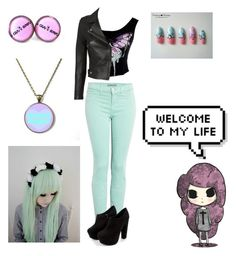 """""""Pastel Goth"""" by its-a-buggie-life ❤ liked on Polyvore featuring J Brand and IRO"""