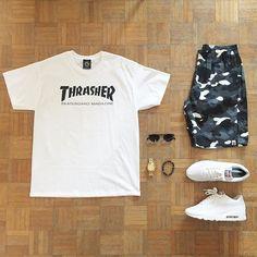 WEBSTA @ oliviergosseau - THRASHER® @outfitgrid #outfitgrid #thrasher #bape…
