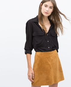 Image 1 of SHIRT WITH POCKETS from Zara