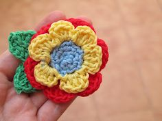 ari crochet & craft: Flower Friday (XXIX-Bis) broche de flores