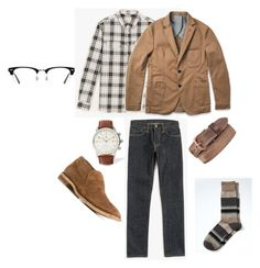 """""""Outfit 2"""" by keeshafrancois on Polyvore featuring Officine Creative, Ace, Banana Republic, men's fashion and menswear"""