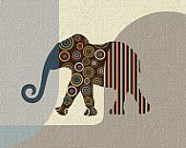 Elephant Artwork, Animal Print, Elephant Print, Animal Art, Elephant Wall Art Print Poster Decor, Safari Decor