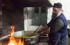 The Monks & Cuisine of Mount Athos - Dimitris Vlaikos - Portrait Photographer Athens Greece Athens Greece, Chile, Cooking, Outdoor Decor, Recipes, Food, Kitchens, Kitchen, Recipies