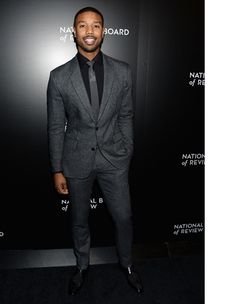 men suits fashion -- Click above VISIT link for Sharp Dressed Man, Well Dressed Men, Michael Bakari Jordan, Viktor Rolf, Mens Suits, Black Men In Suits, Grey Suits, Classic Man, Suit And Tie