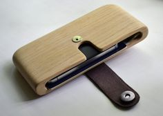 Wooden cash wallet. Oak. Classic design. Big and by Ligneart