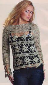 Materiales gráficos Gaby: Buzos con moldes en crochet